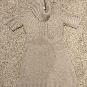 Loft Dresses Tan And Navy Floral Pattern Career Dress 6